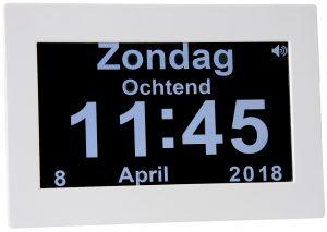 Nederlands sprekende digitale kalenderklok