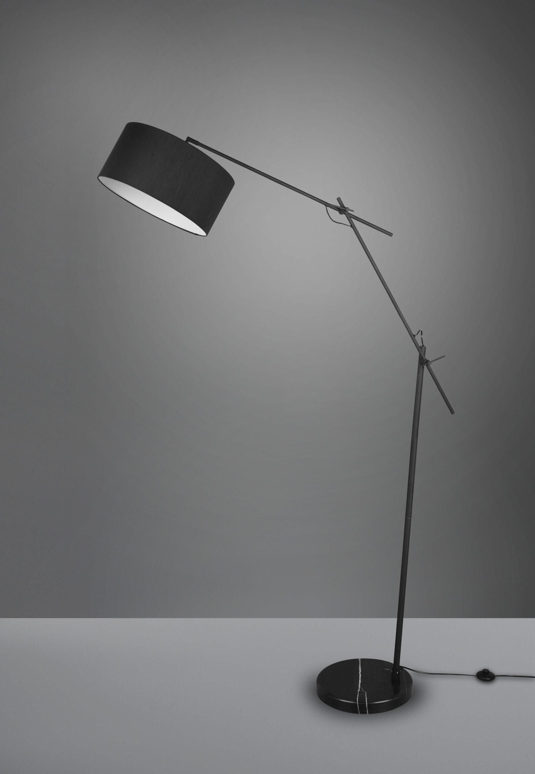 TRIO vloerlamp Ponte zwart