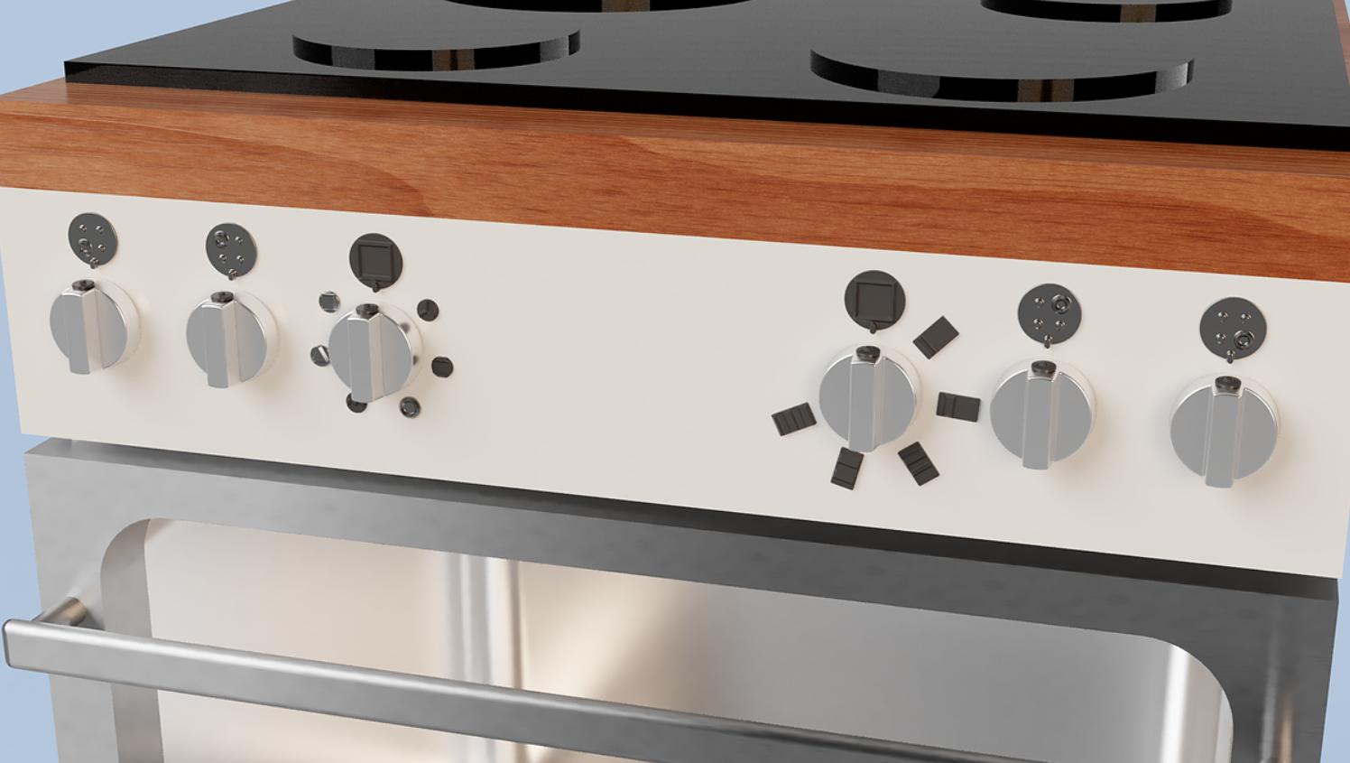 Feelware universele markering kookplaat